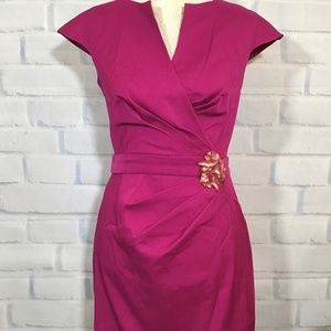 Magenta sexy cocktail dress